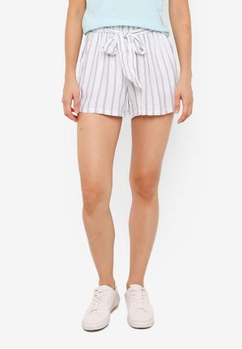 Hollister white Paperbag Waist Soft Shorts 03657AA2FA912DGS_1