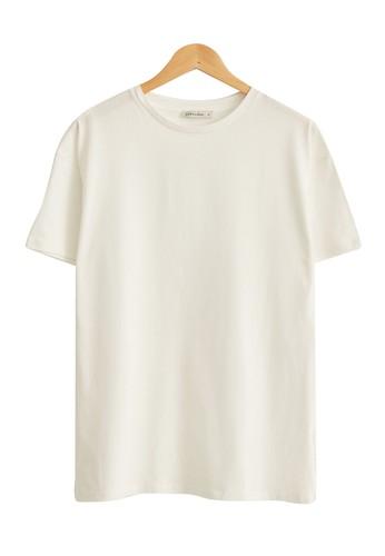 LC Waikiki beige Plain Basic Cotton T-Shirt 36D38AA12E1172GS_1
