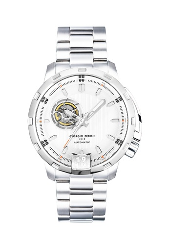 Giorgio Fedon 1919 white and silver Timeless I Japan Automatic Watch GFAQ030 GI911AC0KHW1PH_1