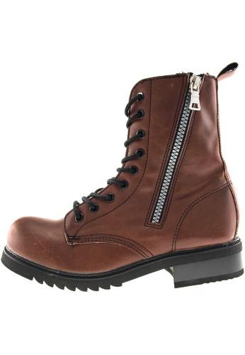 Maxstar Maxstar Women's 303 Zipper Mid Calf PU Combat Boots US Women Size MA168SH18ZZTHK_1