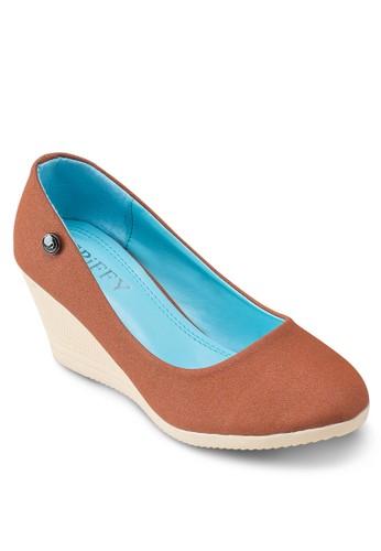 經典圓頭楔型鞋, 女鞋,esprit女裝 厚底楔形鞋