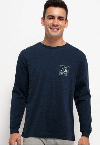 Quiksilver navy Strange Tales Long Sleeve 567BCAA534AFD1GS_1