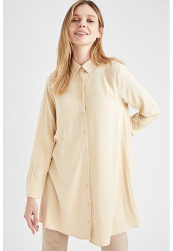 DeFacto beige Woman Long Sleeve Woven Tunic B531AAAB3537C0GS_1