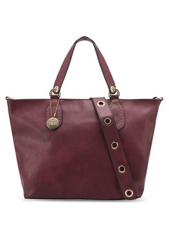 Perllini&Mel red Faux Leather Satchel Top Handle Bag PE444AC0SJ04MY_1