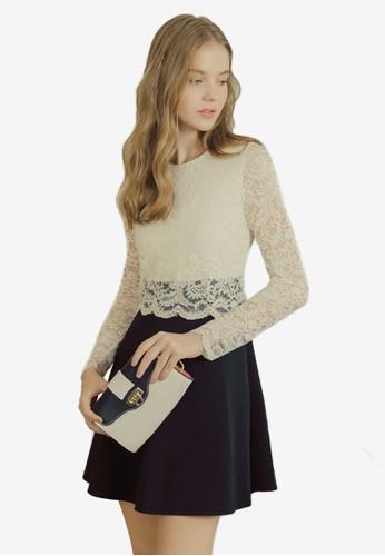 Eyescream white Lace Bodice Dress 2EDC6AA884B7E2GS_1