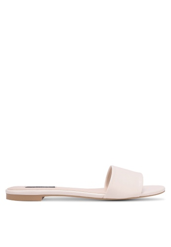 ZALORA white Single Strap Sliders 1AC73SHEA807BCGS_1