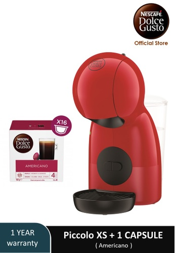 NESCAFE Dolce Gusto red PICCOLO XS Coffee Machine with 1 box of NESCAFE Dolce Gusto Americano capsules 15A50ES5280D63GS_1