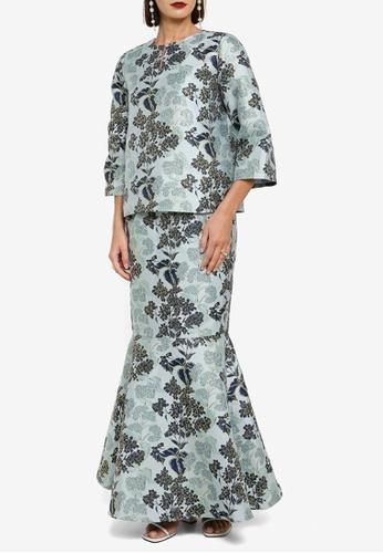 Zalia 藍色 Floral Kurung Kedah 598AFAA6CD1060GS_1