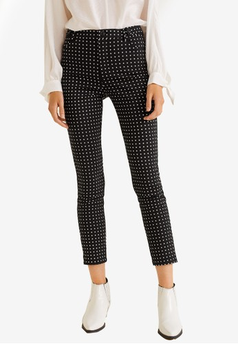 MANGO black and white Suit Slim-Fit Trousers B1938AACC4D204GS_1