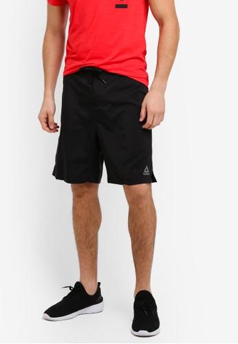 Reebok black Workout Ready Board Shorts RE691AA0SVYQMY_1