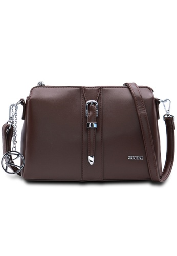 RUCINI brown RUCINI Loane Crossbody Sling Bag 39DA2AC0DCCADCGS_1