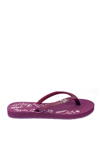Ripples purple Estella Floral Ladies Sandals C6925SHEB962C1GS_1