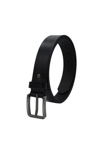 EXTREME black Extreme Men's Genuine Leather Belt Plus Size 6D145AC74F4D87GS_1