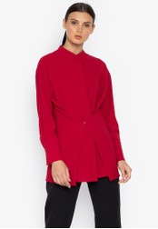 Susto The Label red Mimi Wrap Blouse FF14AAAB6234C0GS_1