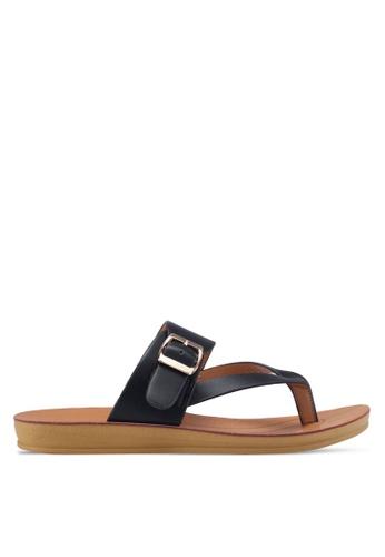 Noveni black Slide-On Sandals 449F1SHE4D0016GS_1