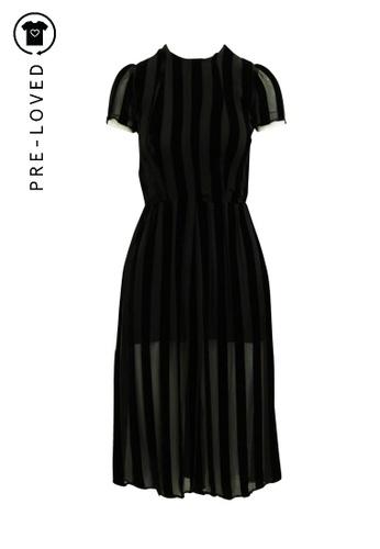 Reformation black Pre-Loved reformation Elegant Velvet Striped Dress with Hidden Shorts 1422EAA2044879GS_1