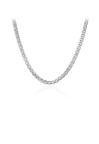 Glamorousky silver Simple Round Lattice Geometric Necklace 30B68AC4C594A6GS_1
