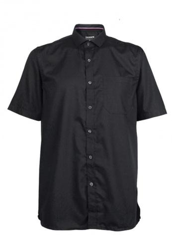Platinum black Platinum Big Size Plain Microfiber + Cotton Shirt 1XL-4XL Plus Size  PM8249 (Black) 7063CAA142EB04GS_1
