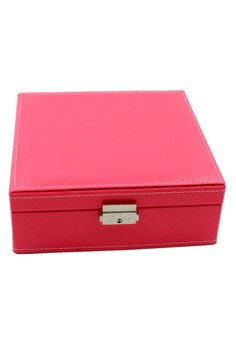 Plain Weave Leather Portable JewelryBox JBHP-003