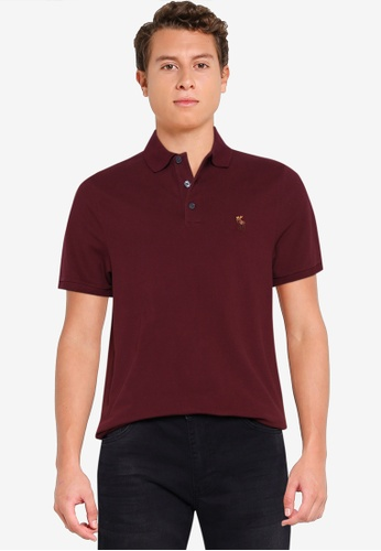 Abercrombie & Fitch red Core Icon Polo Shirt A240FAAD25FB65GS_1