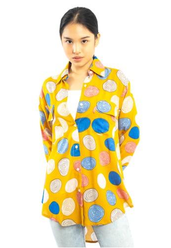 Agatha yellow Agatha Basic Shirt 9A401AAB7BABA9GS_1