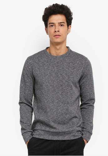 Jack & Jones grey Wallet Crew Neck Sweatshirt CC563AA1339D7BGS_1
