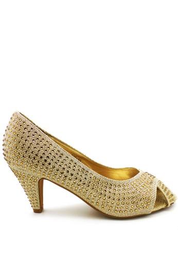 ED Swarovski Heels ED037-10 Gold