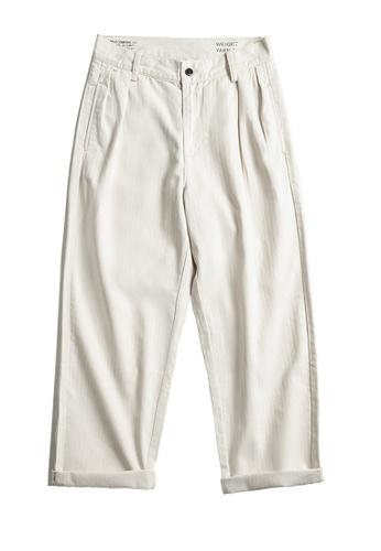 Twenty Eight Shoes white VANSA Japanese Herringbone Causal Pants   VCM-P2007111 8FFDDAA867EAB8GS_1