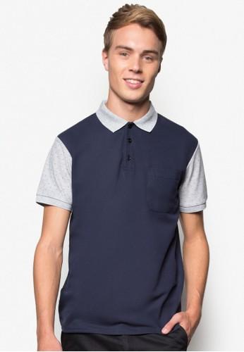Contrast Sleeves Polo Te尖沙咀 esprite, 服飾, Polo衫
