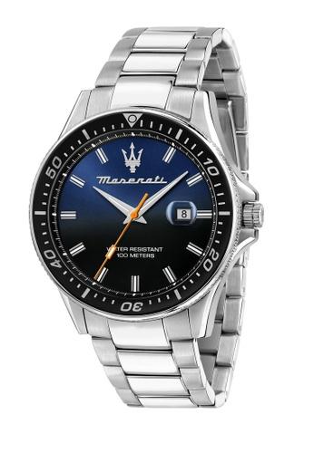 Maserati silver Maserati Sfida 44mm Blue Dial Men's Quartz Watch R8853140001 A9A07AC9EA43D9GS_1