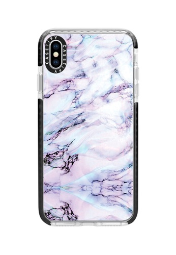 Casetify black and multi Marble Swirl Protective Impact Case with Camera Ring For iPhone XS Max - Black D9861AC2A06691GS_1