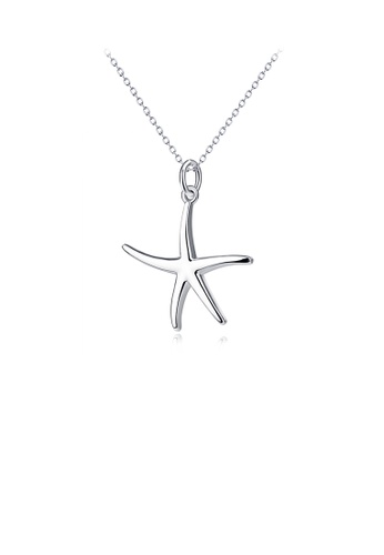 Glamorousky silver 925 Sterling Silver Simple Fashion Starfish Pendant with Necklace FD2DAACF23623BGS_1
