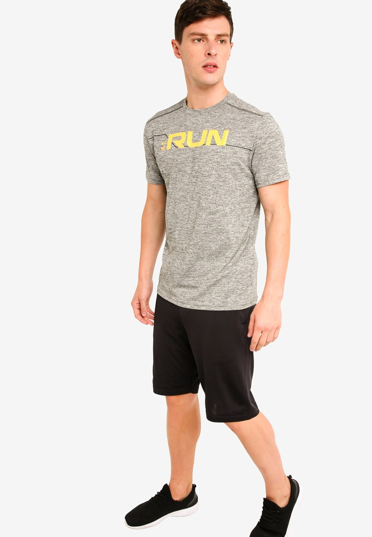 Reflective T Under Armour Graphic Run Front Yellow Black Shirt UA qgOZ7a