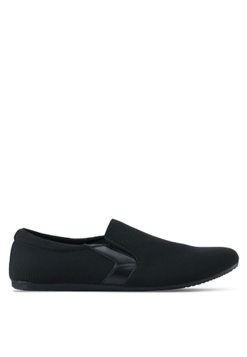 UniqTee black Classic Textile Loafers UN097SH0SYS6MY_1