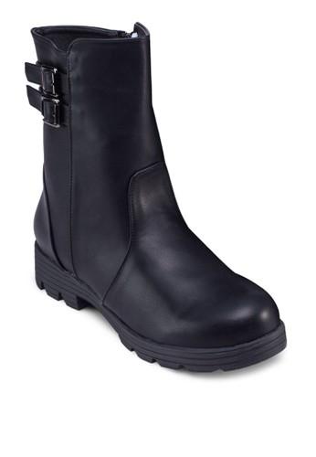 雙扣環飾帶esprit女裝中筒靴, 女鞋, 鞋