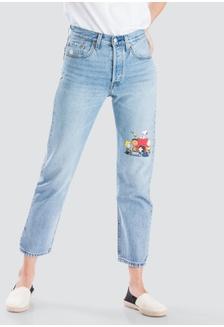 f67b0a96f9e Levi s x Peanuts 501 Crop Jeans Women 36200-0044 D7858AA35F4E06GS 1
