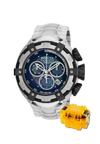 INVICTA black Invicta Bolt Men Swiss Quartz Chronograph 52mm Stainless Steel Dress Watch 21344 w/ Impact Case E9527AC5EE97FCGS_1