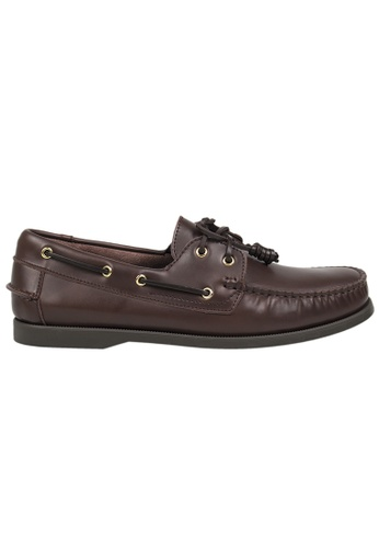 Tomaz brown Tomaz C999A Leather Boat Shoes (Coffee) E83EESH9A3F66FGS_1