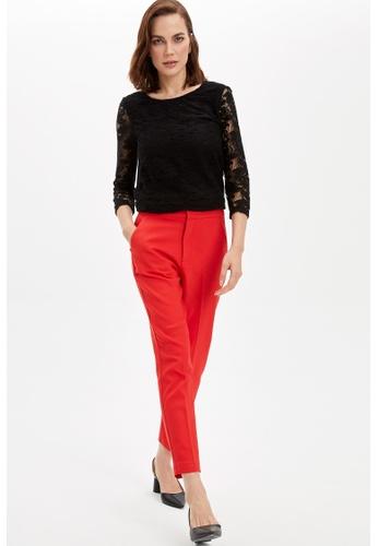 DeFacto black Woman Knitted Long Sleeve T-Shirt A4B9CAA27D8308GS_1