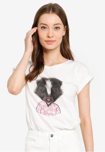 Compania Fantastica white Skunk T-Shirt 958A5AA2DA9181GS_1