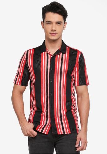 Topman multi Striped Revere Shirt 0F95DAA005629AGS_1