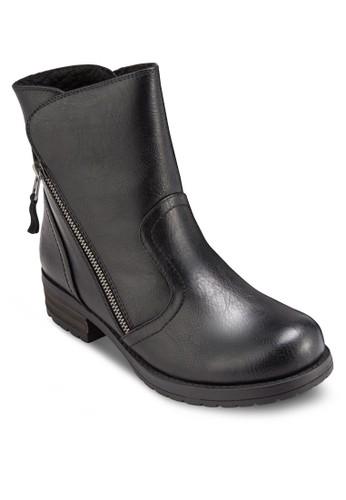 Aroesprit tote bagsien 斜拉鍊仿皮短靴, 女鞋, 鞋