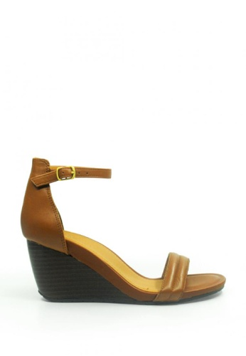 Kenneth Cole New York brown CAKE ICING - Ankle Strap Wedge Sandal KE615SH52ACXMY_1