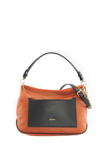 SEMBONIA brown SEMBONIA Synthetic Leather Hobo Bag (Brown) SE598AC0SZ7VMY_1