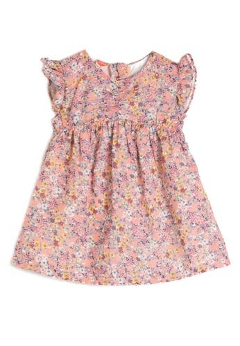 KOTON pink Printed Textile Dress 68396KA07D4081GS_1