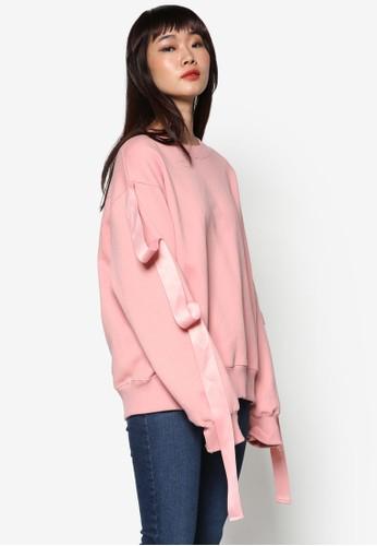 韓式風格緞帶飾長袖衫, 服飾,esprit 衣服 外套