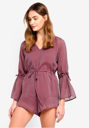 Preen & Proper purple Long Sleeve Playsuit F2762AAA7265D4GS_1