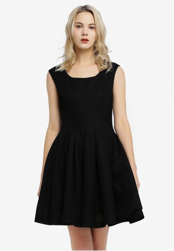 Hopeshow black Sleeveless Mini Dress 10880AA92D2DDDGS_1