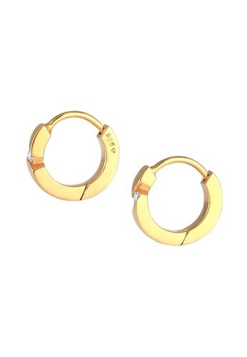 ELLI GERMANY white Diamond Creoles Elegance Earrings 4D20AACC444EEFGS_1