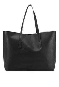 Zalora Black Large Easy Tote Bag 5e7b0acc1ce6c4gs 1
